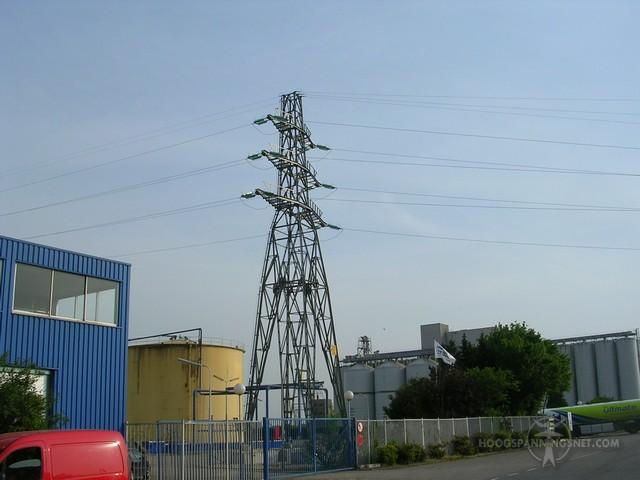 50 kV-hoekmast in Wageningen