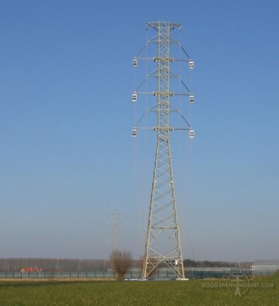 Stevinproject: mast met geïsoleerde mastarmen