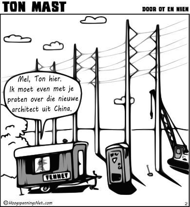Ton Mast comic by HoogspanningsNet
