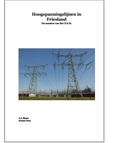 Cover Hoogspanningslijnen in Friesland (A.J. Börger)