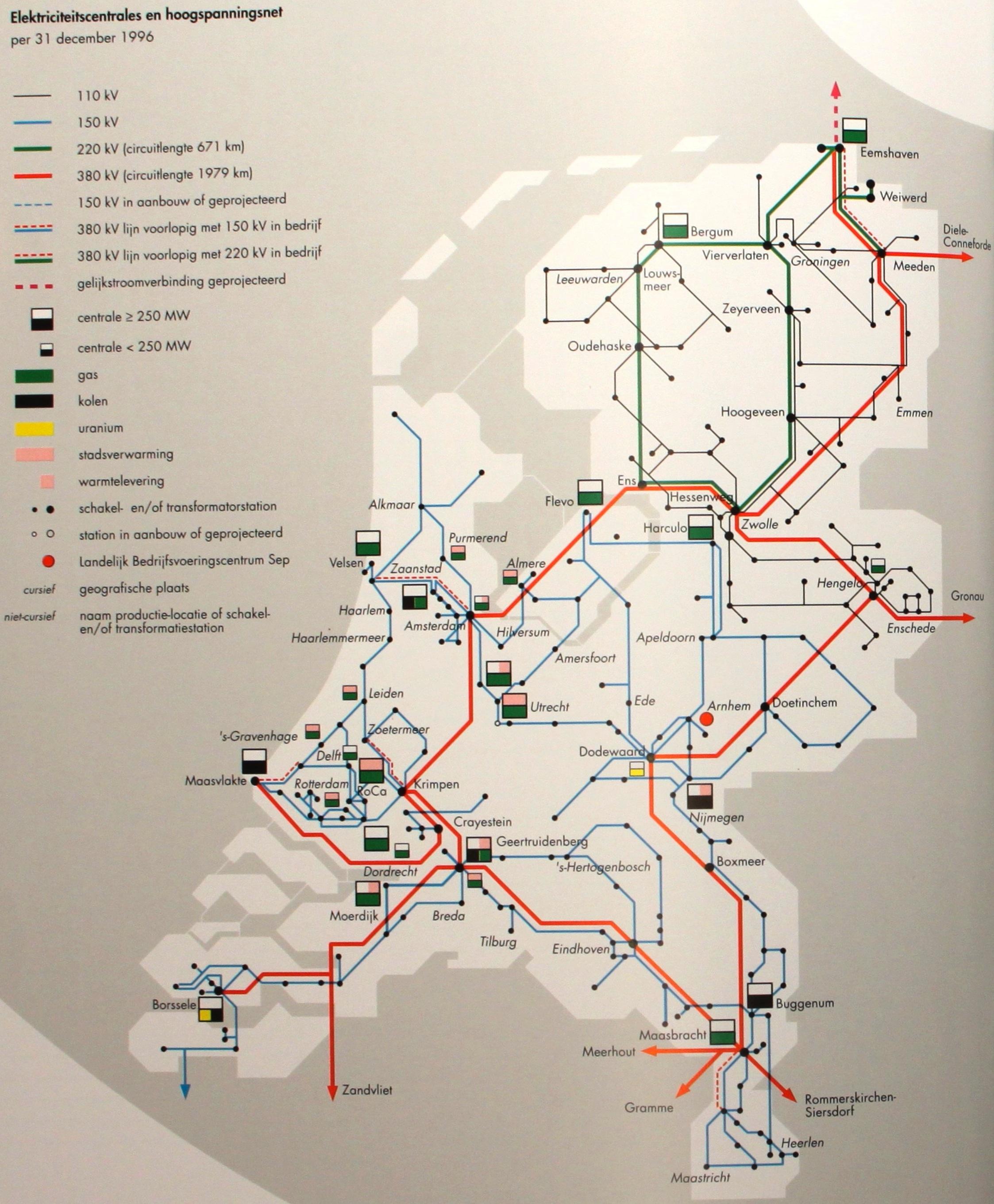 Netkaart van 1996