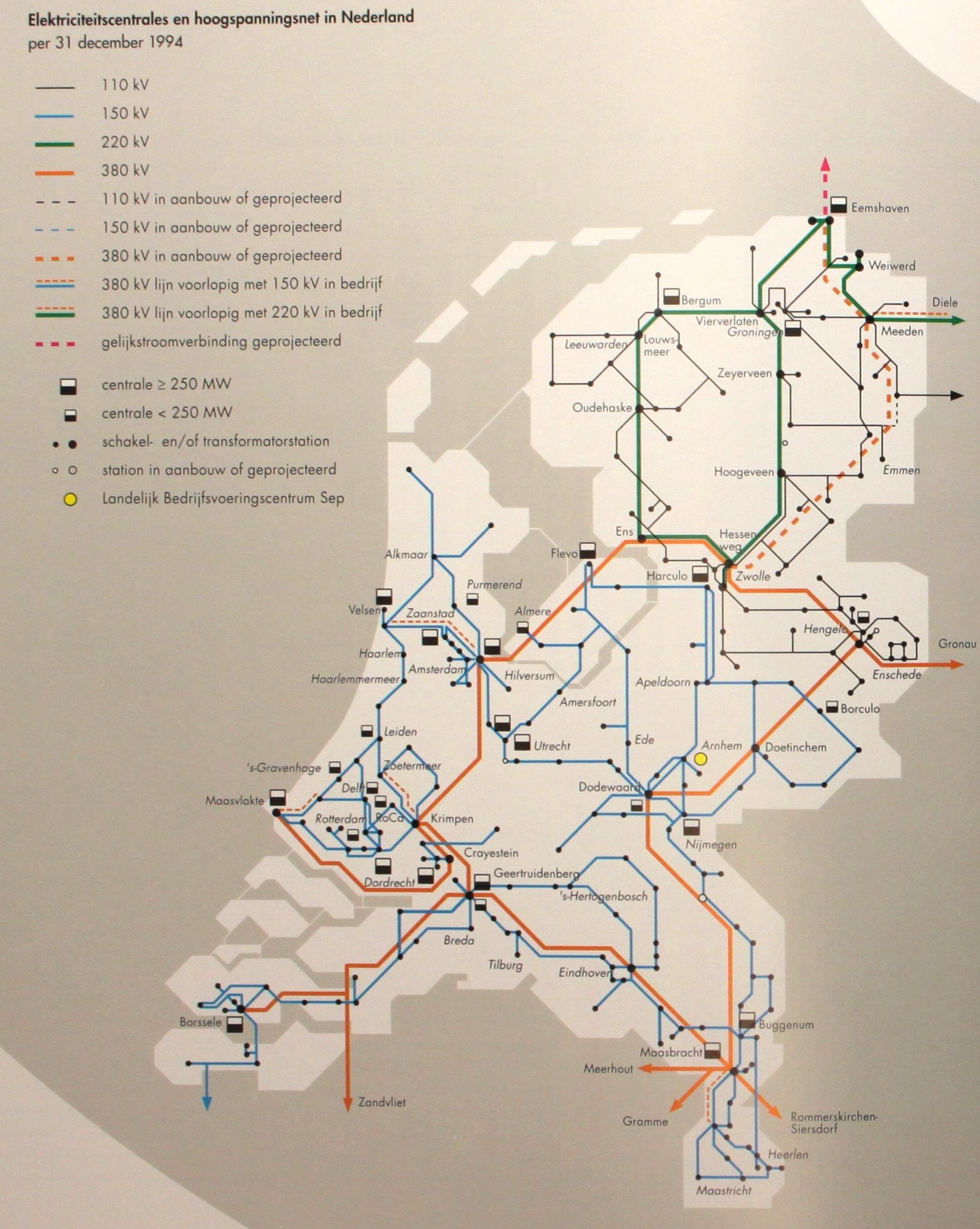Netkaart van 1994