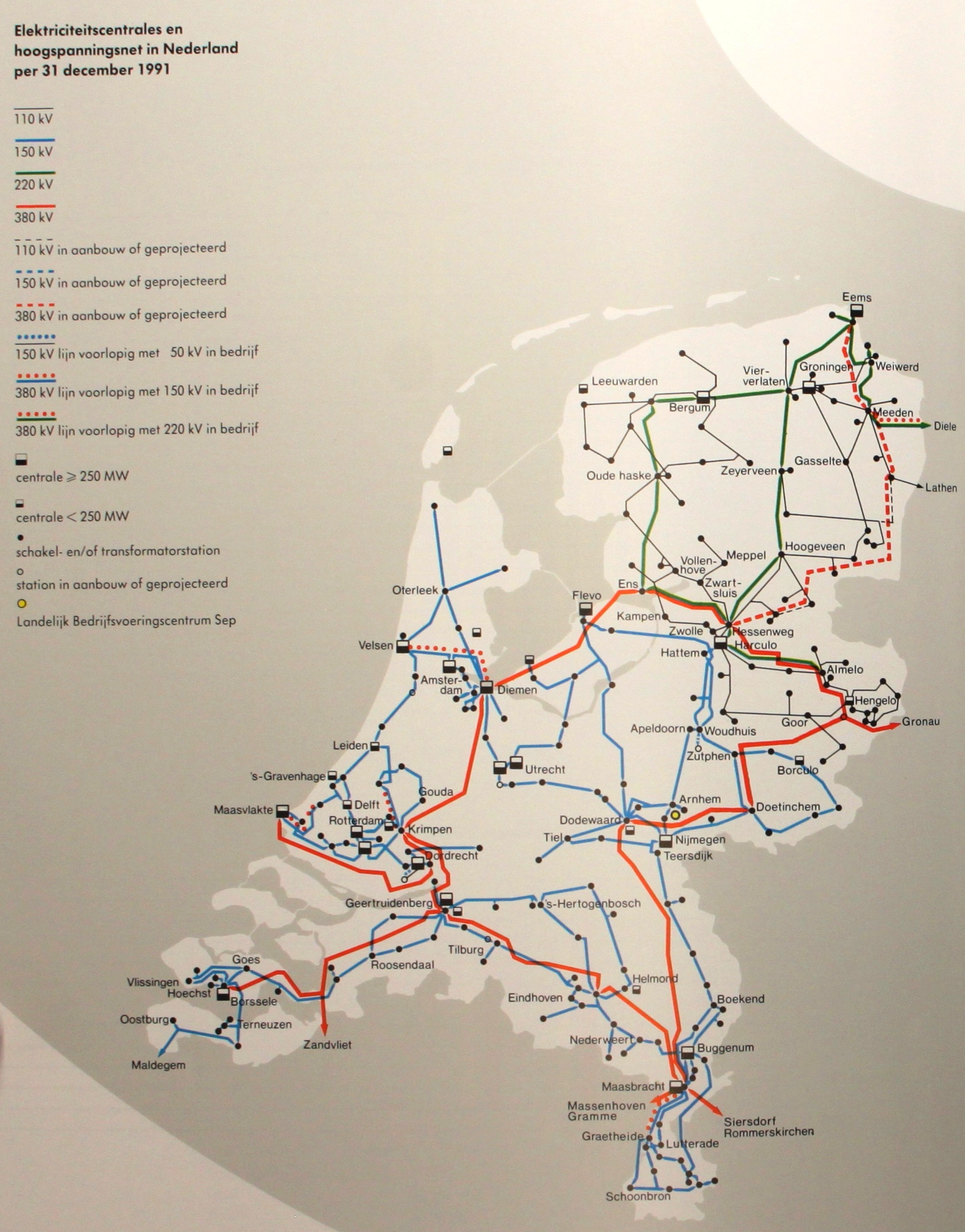 Netkaart van 1991