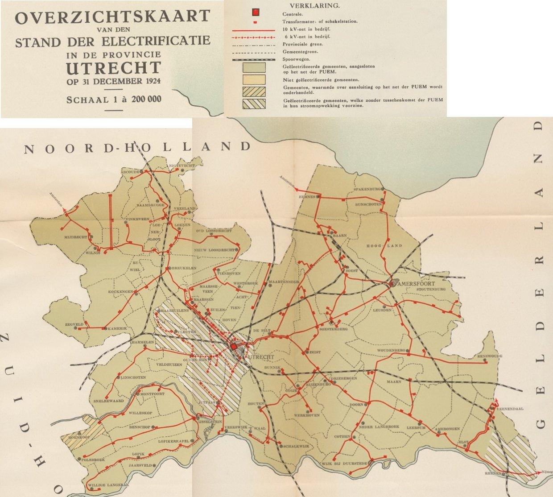 Netkaart Utrecht 1924