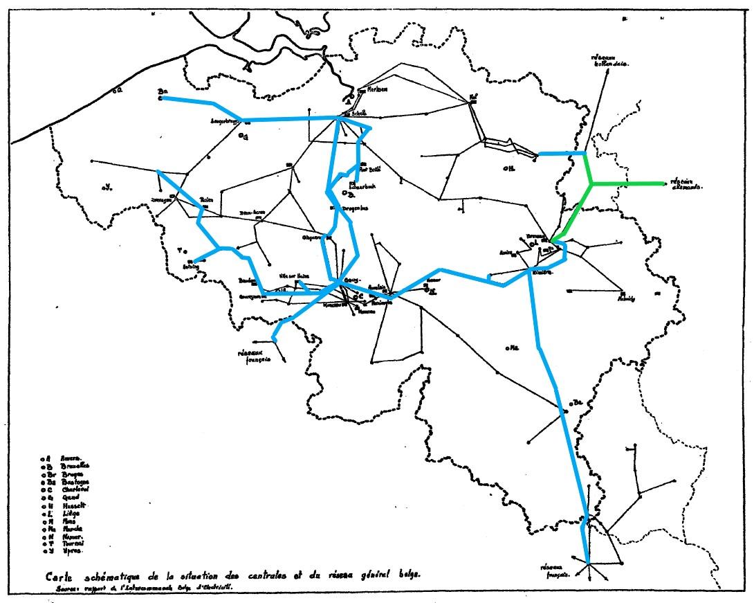 Netkaart van 1957