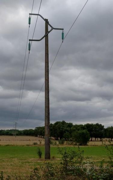 Driehoeksmast voor 63 kV in Frankrijk