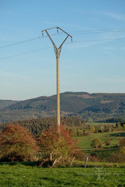 Zadelmast voor 15 kV in de Ardennen