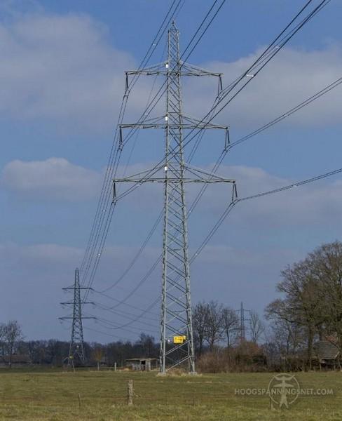 Geen broekstuk bij 220 kV-mast