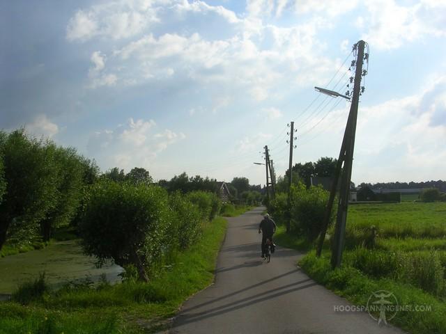 Houten LS-paal in Waddinxveen