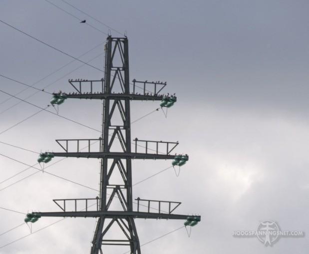 Geen topstuk op oude 50 kV-mast
