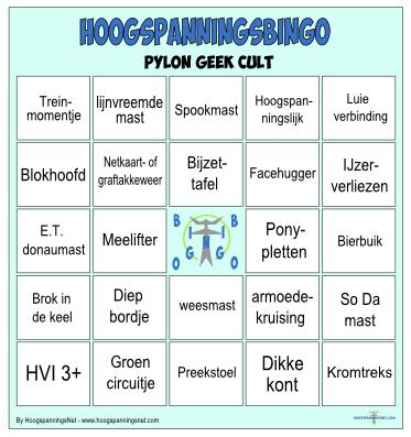 Pylon Geek Cult bingo
