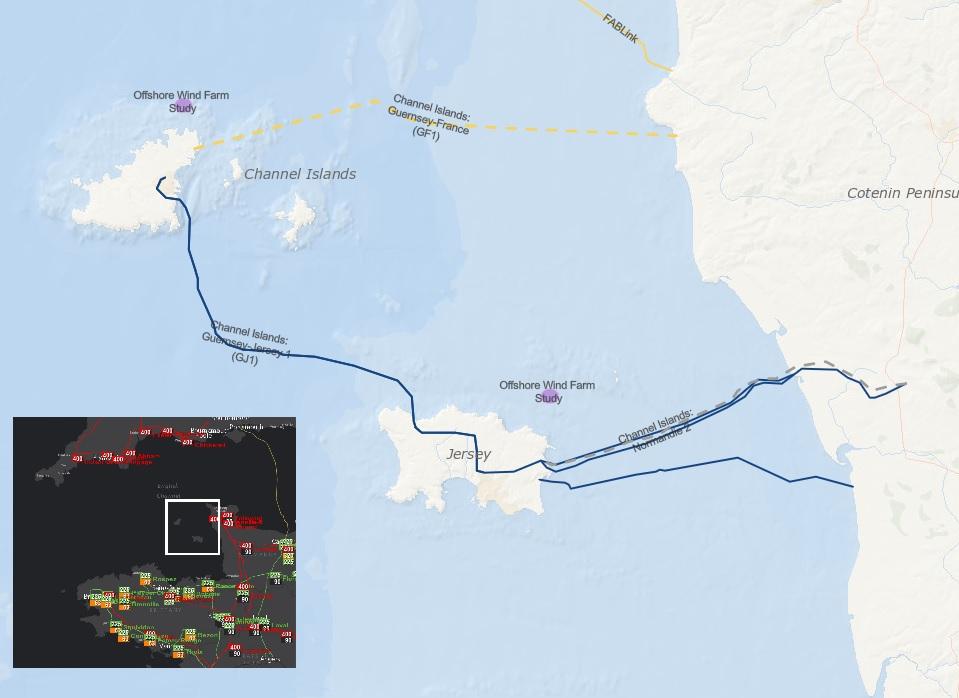 Kanaaleilanden hangen aan Frankrijk op 90 kV