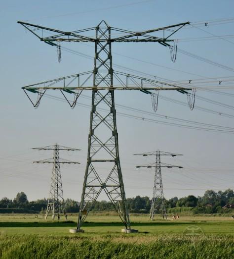 Kattenoren op een donaumast voor 220 kV
