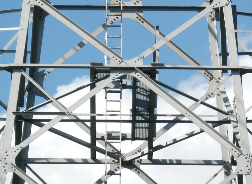 Ladder met balkonnetje