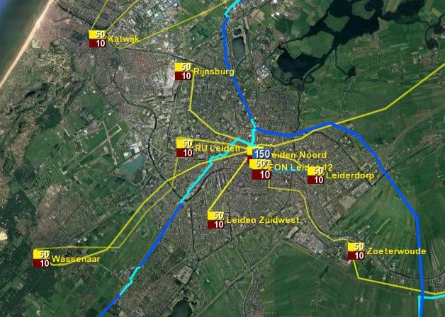 Deelnet Leiden op de netkaart