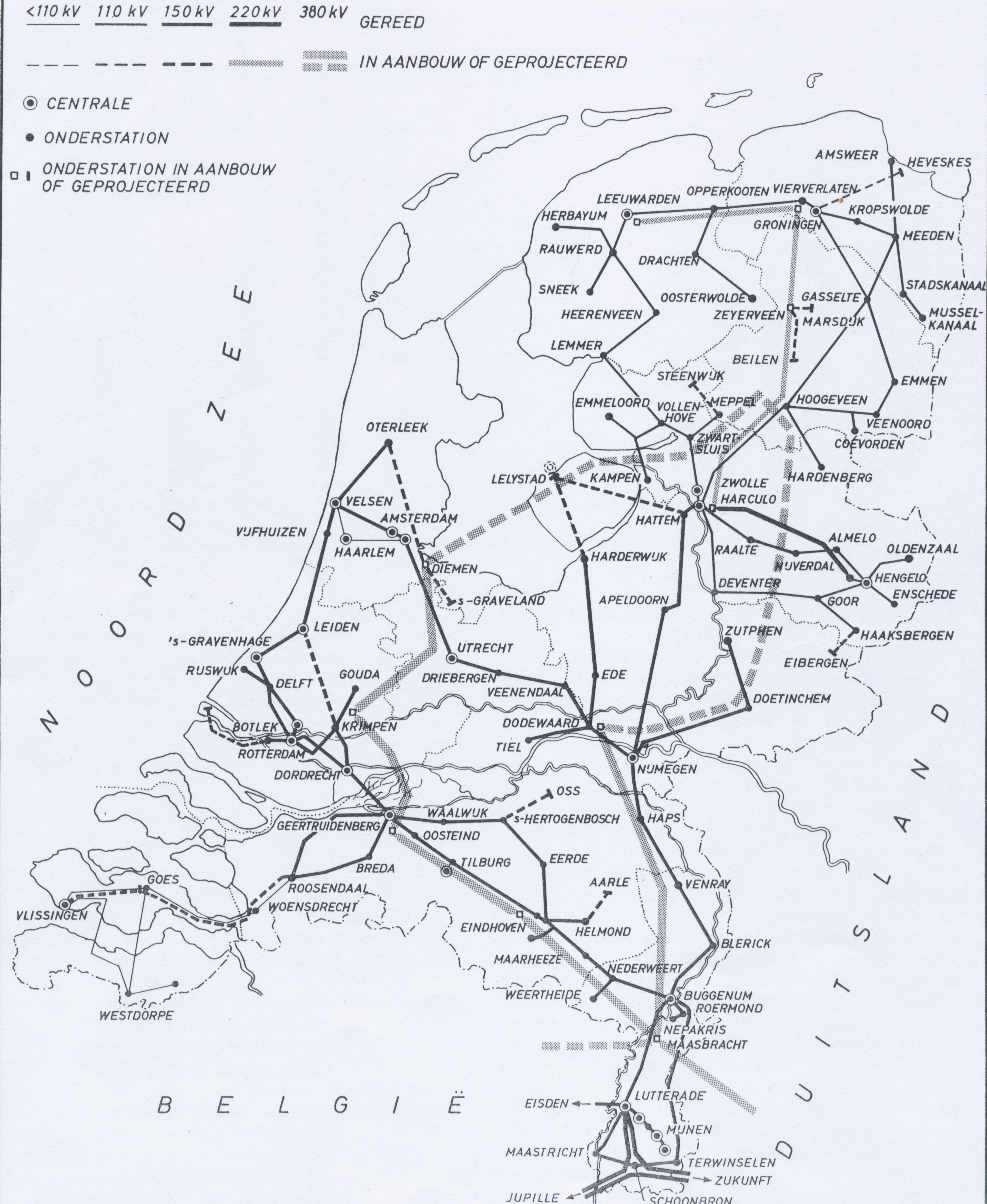 Netkaart 1965