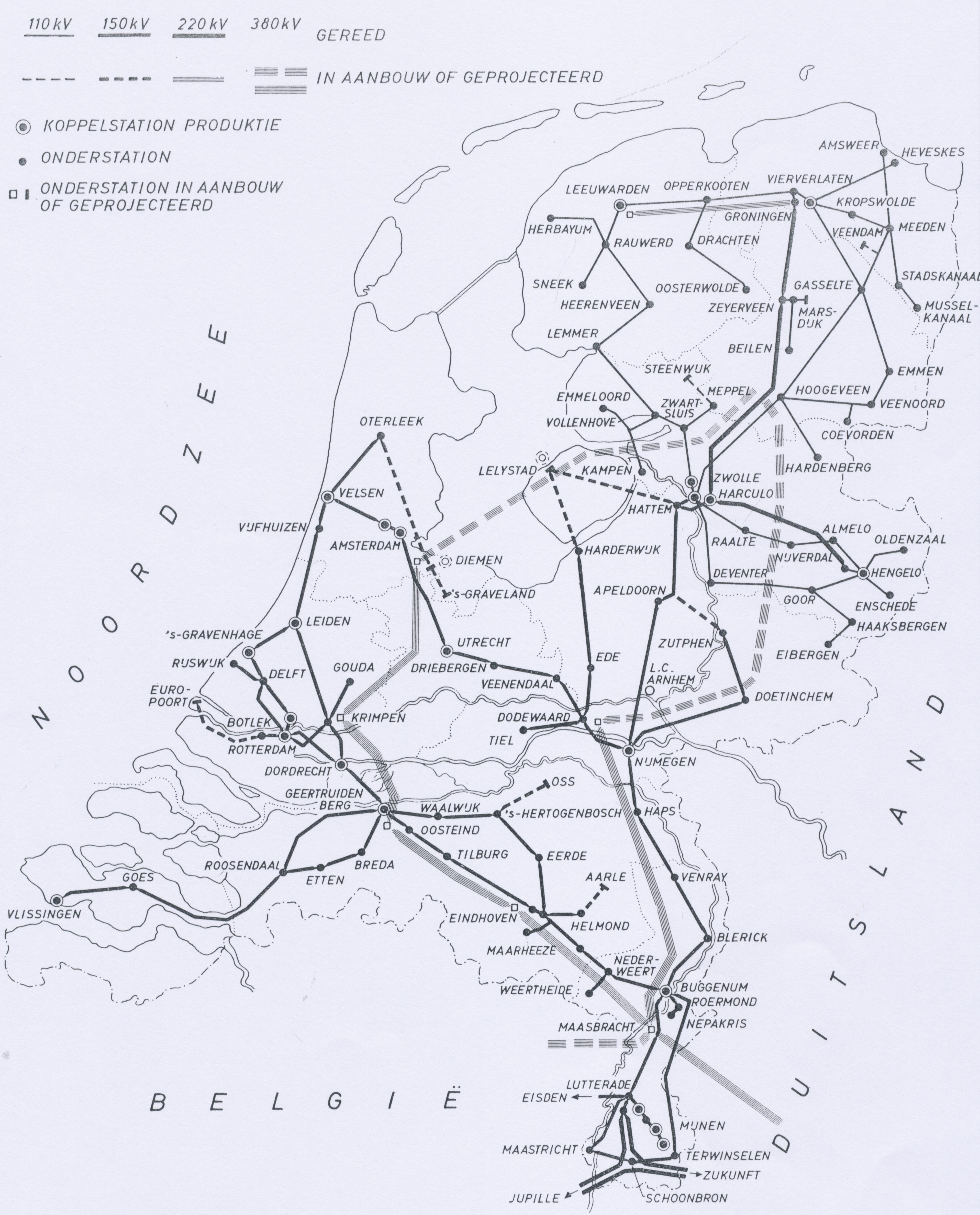 Netkaart van 1966