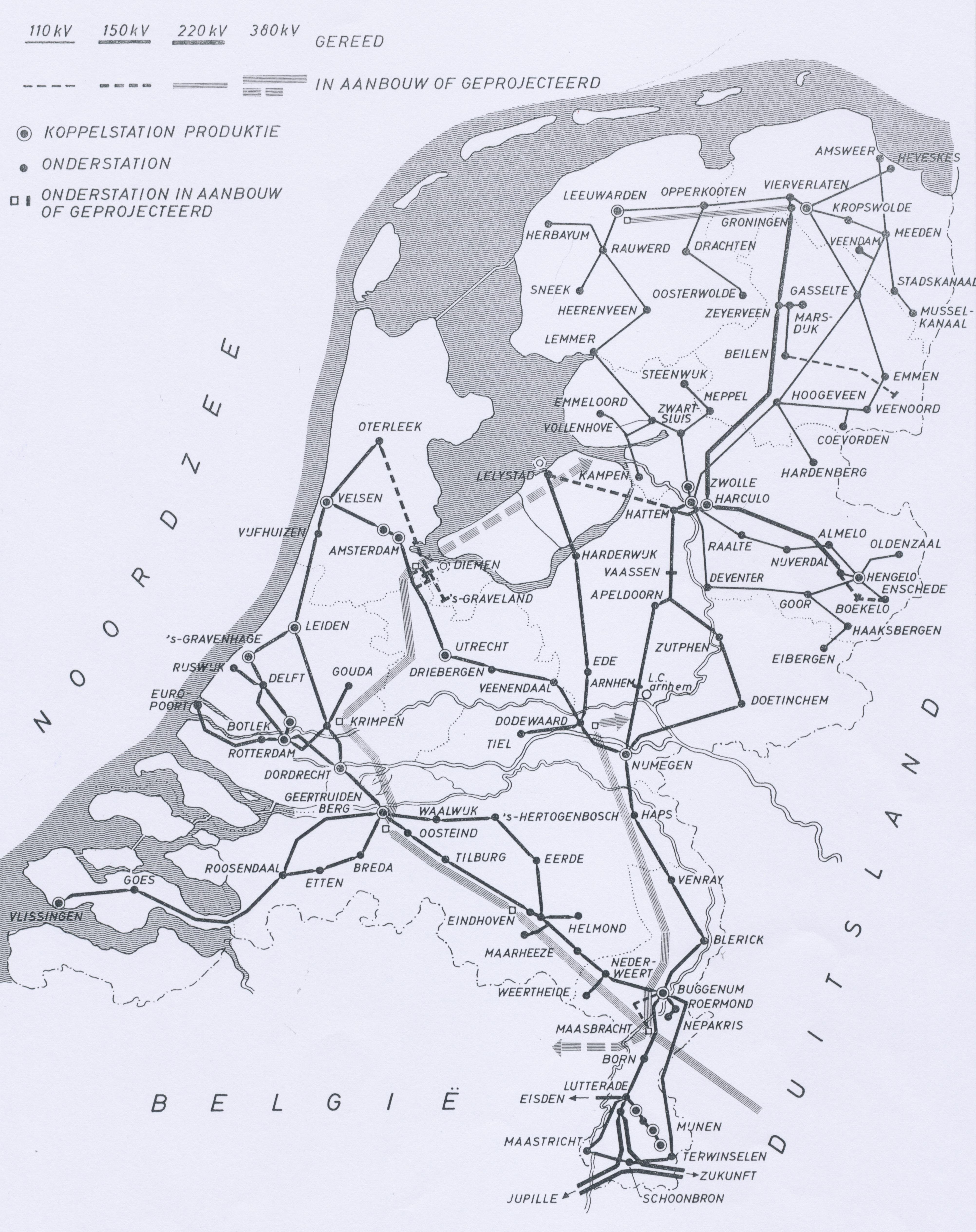 Netkaart 1967
