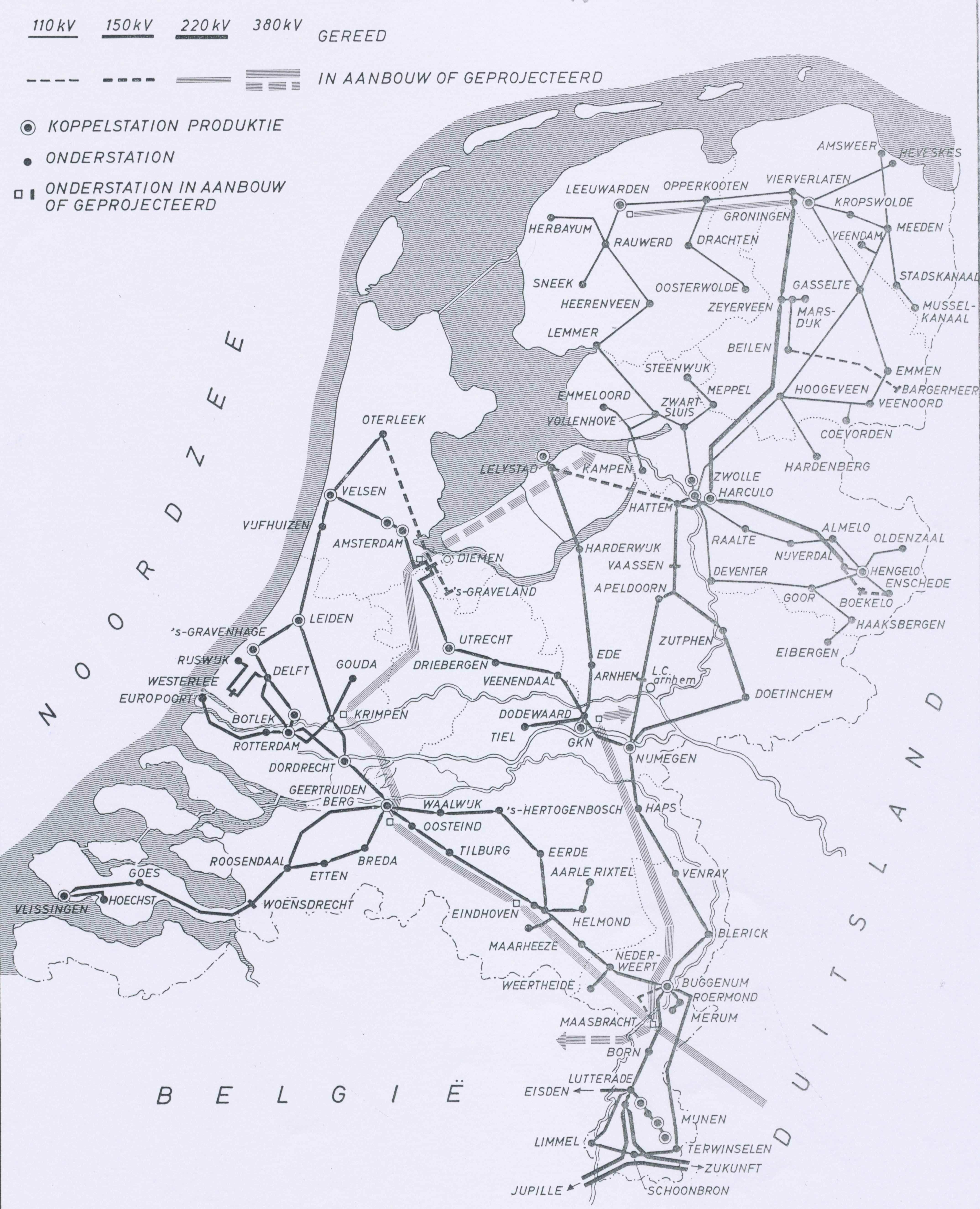 Netkaart van 1968
