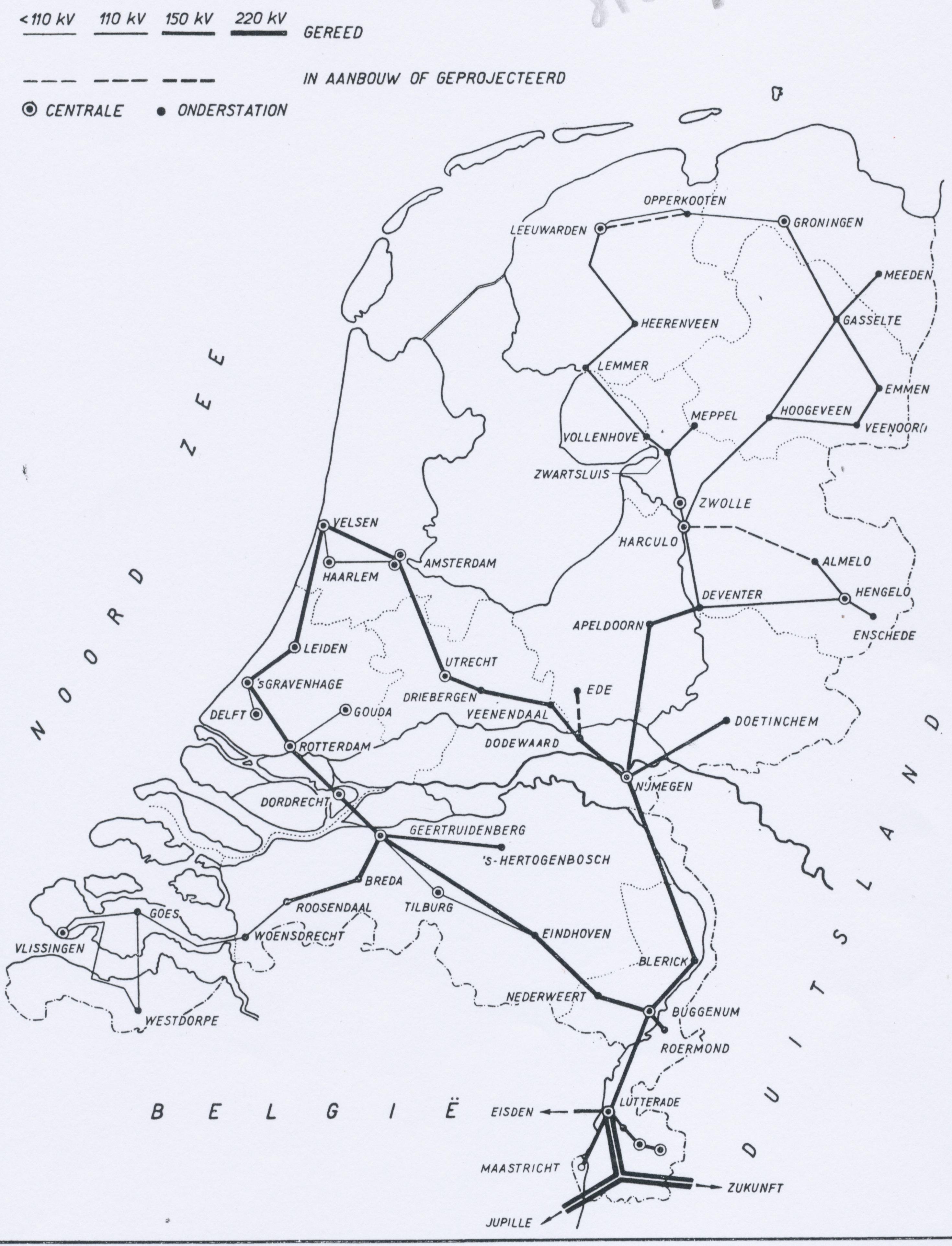Netkaart 1955
