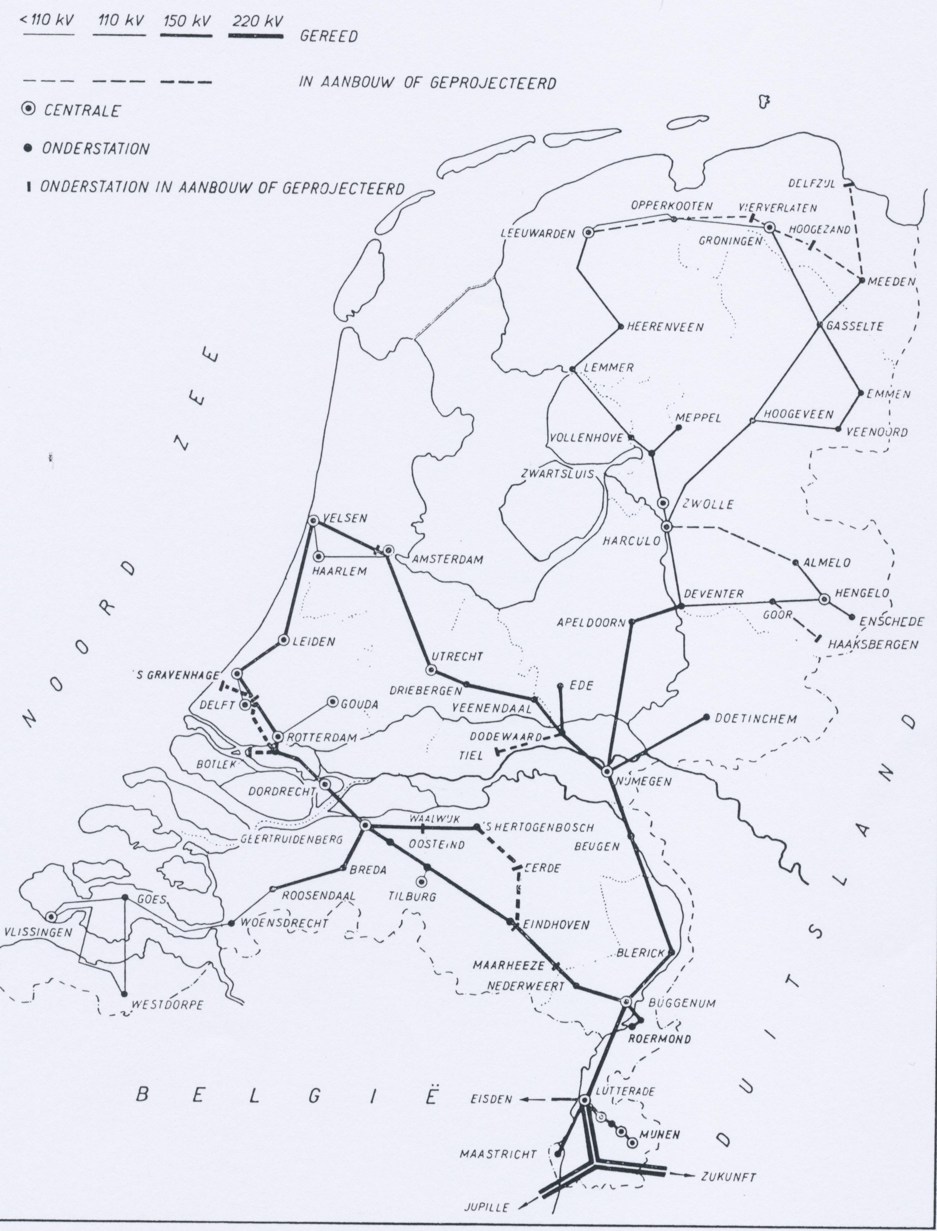 Netkaart 1957