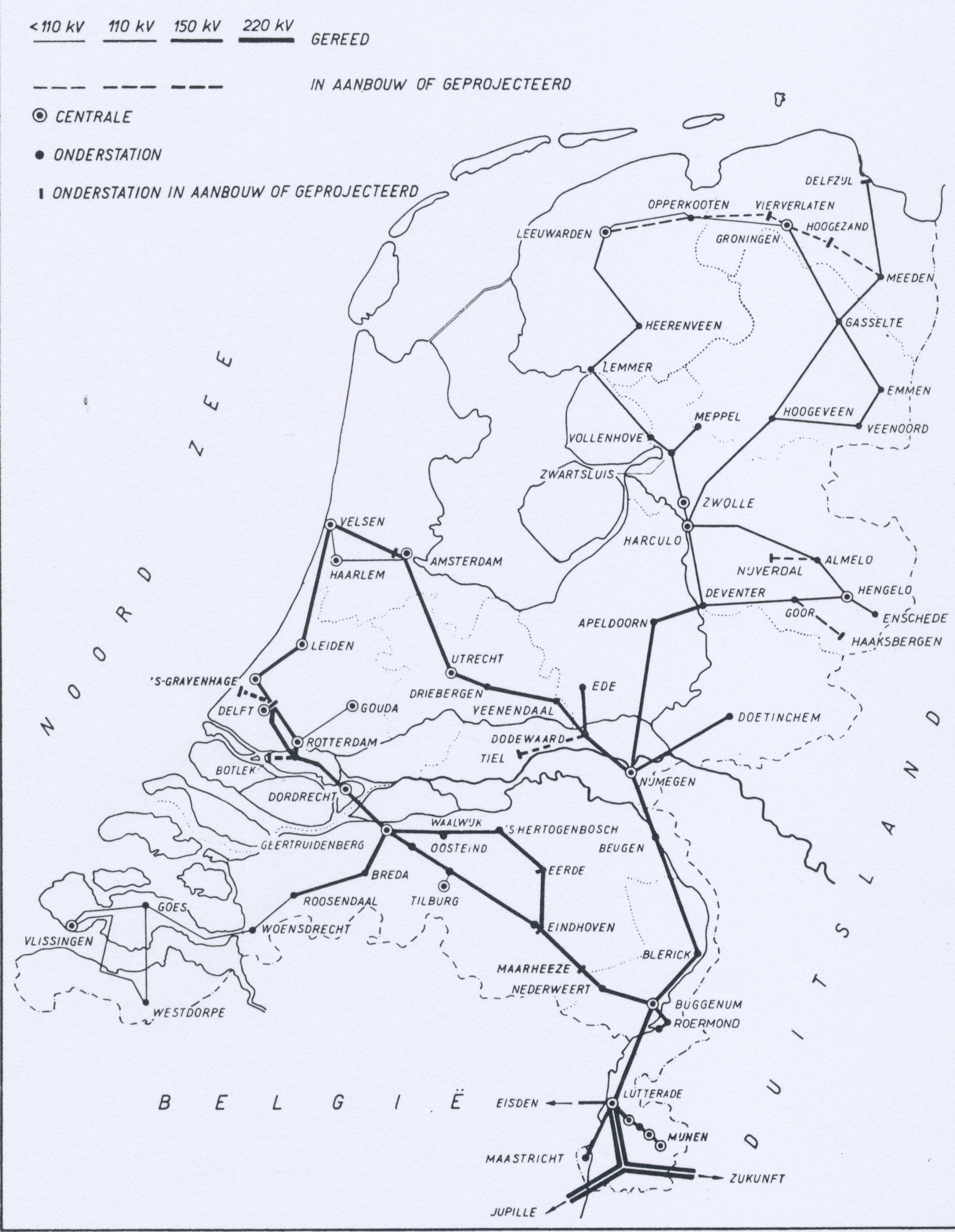 Netkaart 1958