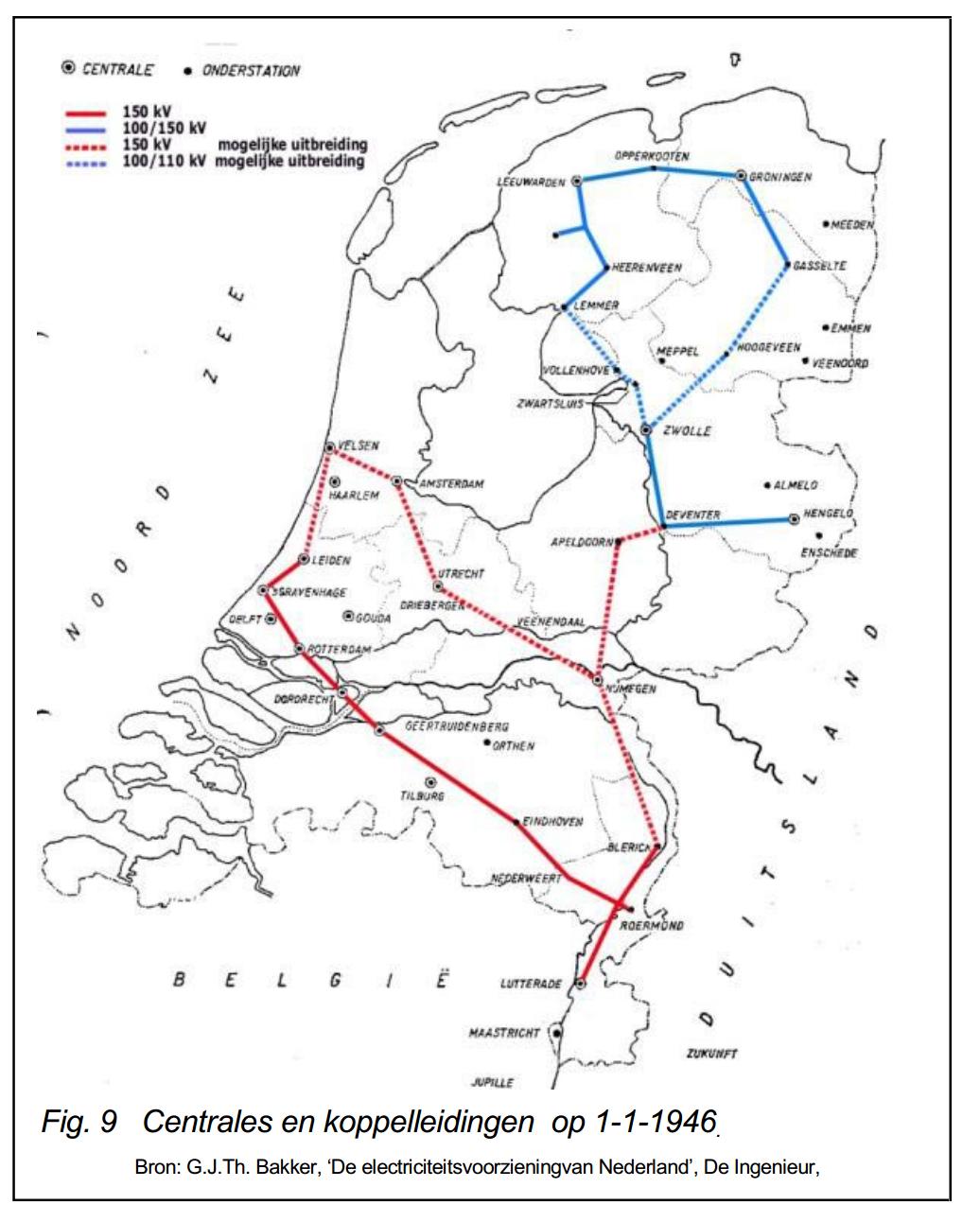 Netkaart van 1946