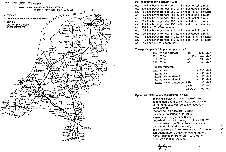 Netkaart van 1974