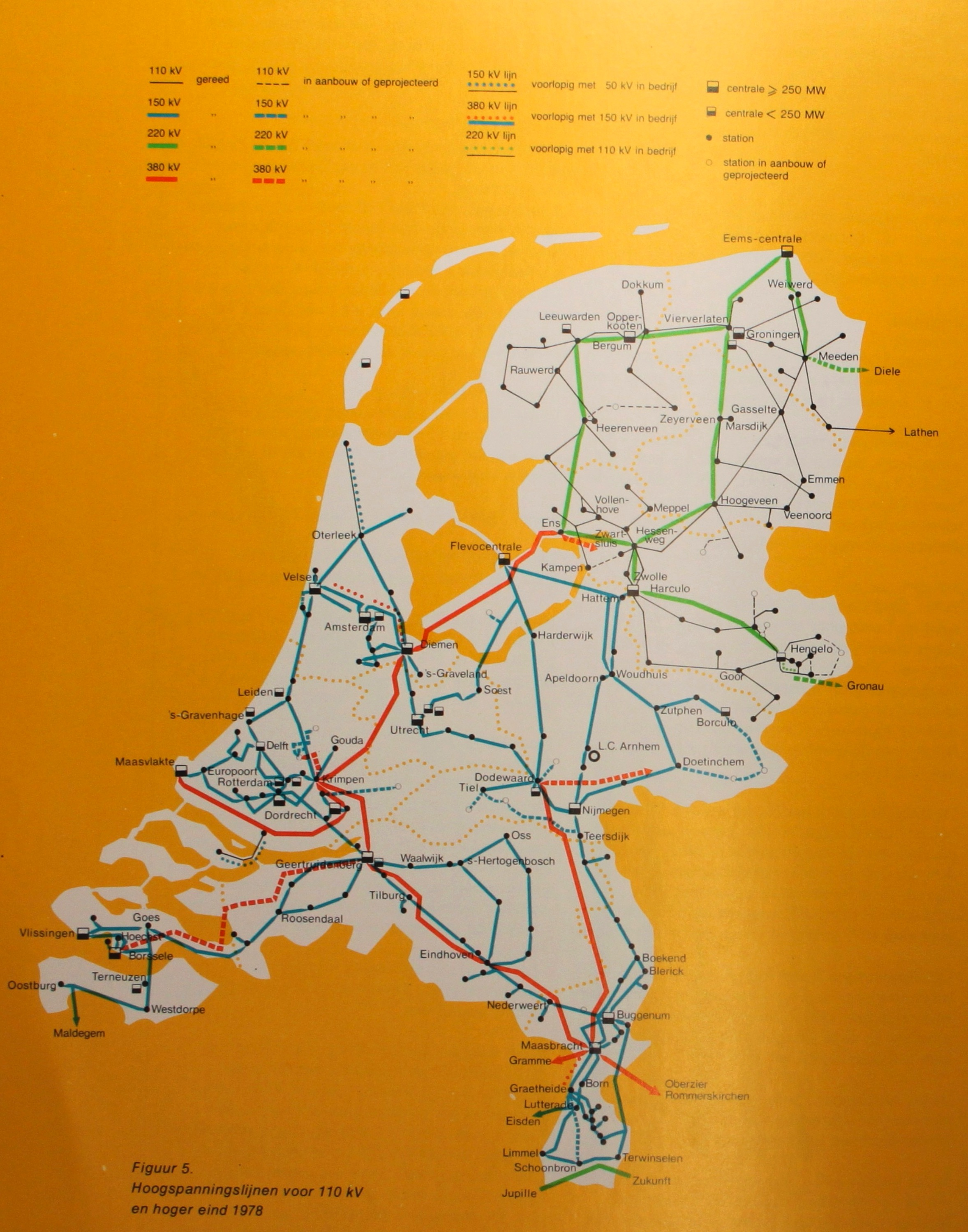 Netkaart van 1978 van het SEP