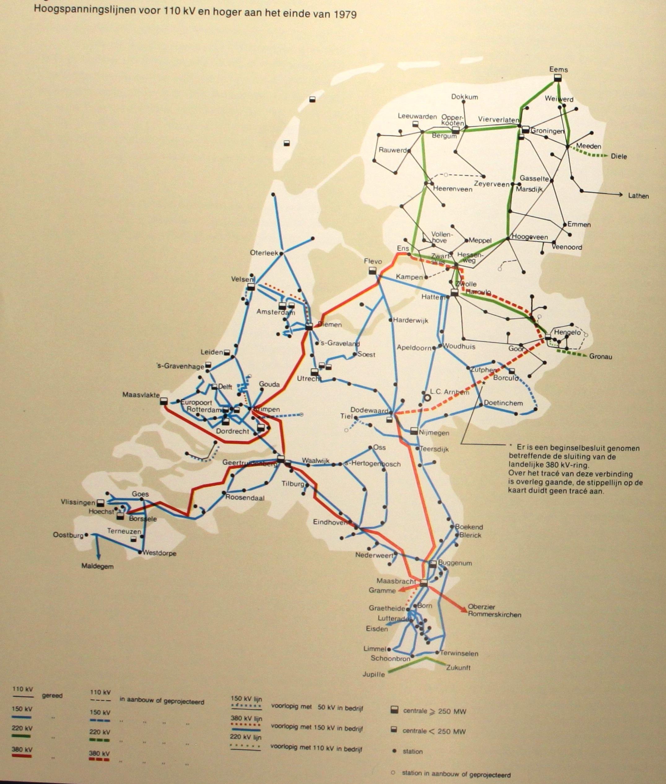 Netkaart van 1979