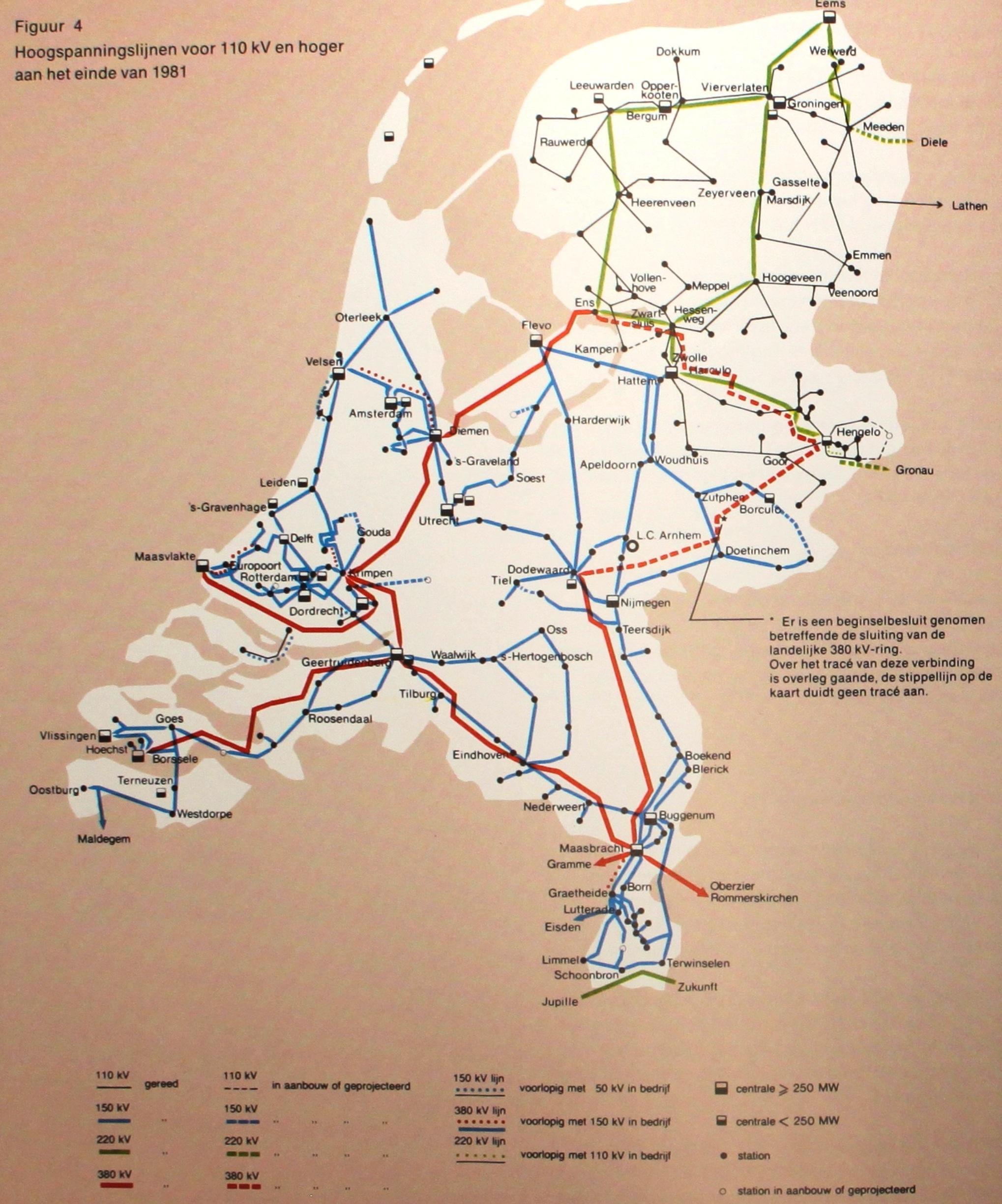 Netkaart van 1981