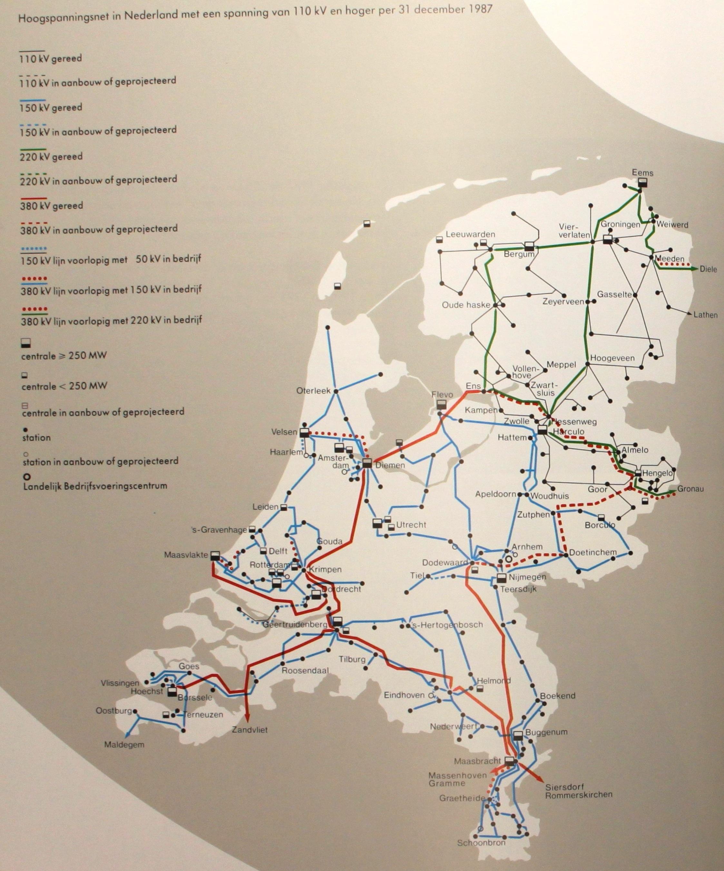Netkaart van 1987