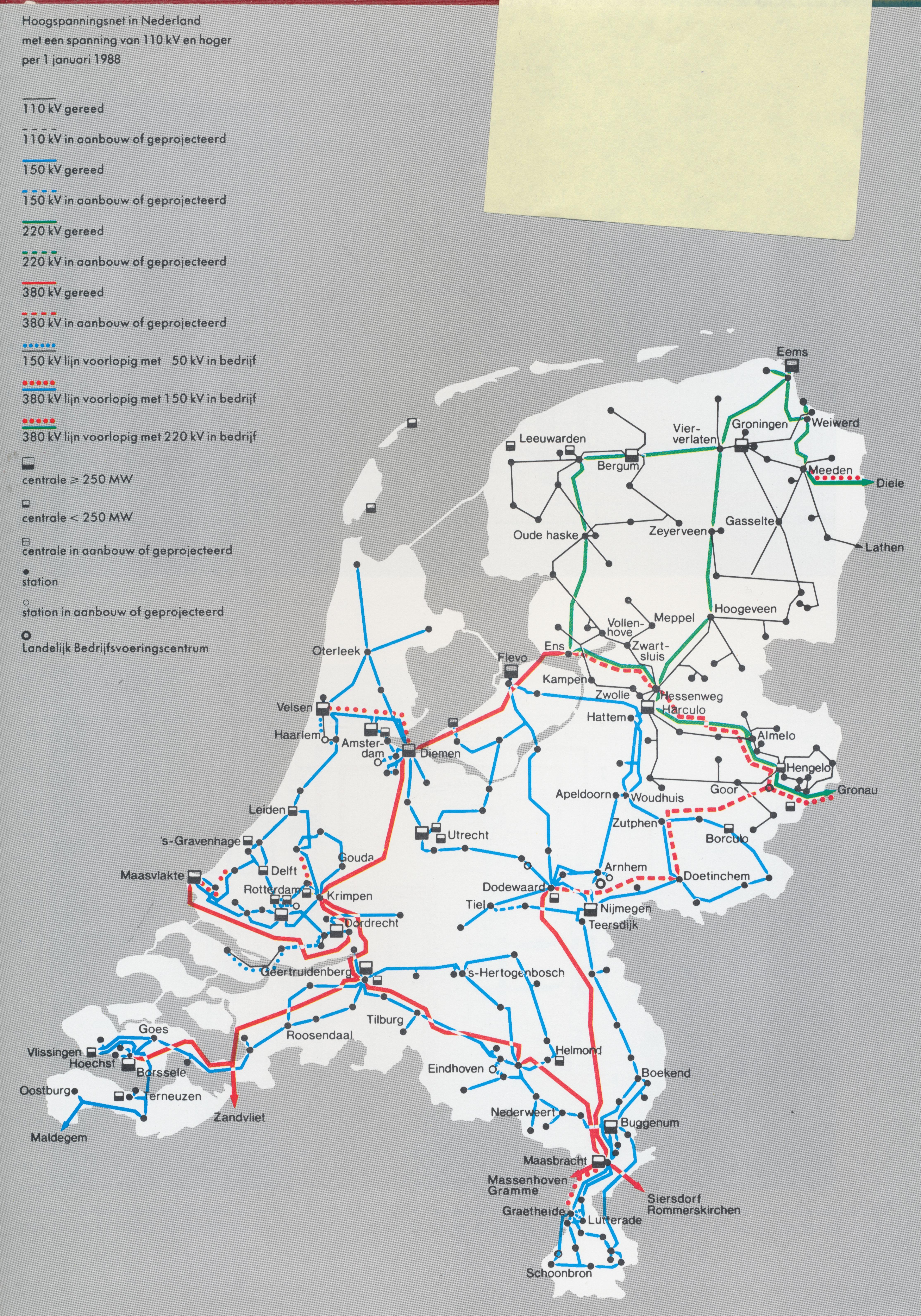 Netkaart van 1988