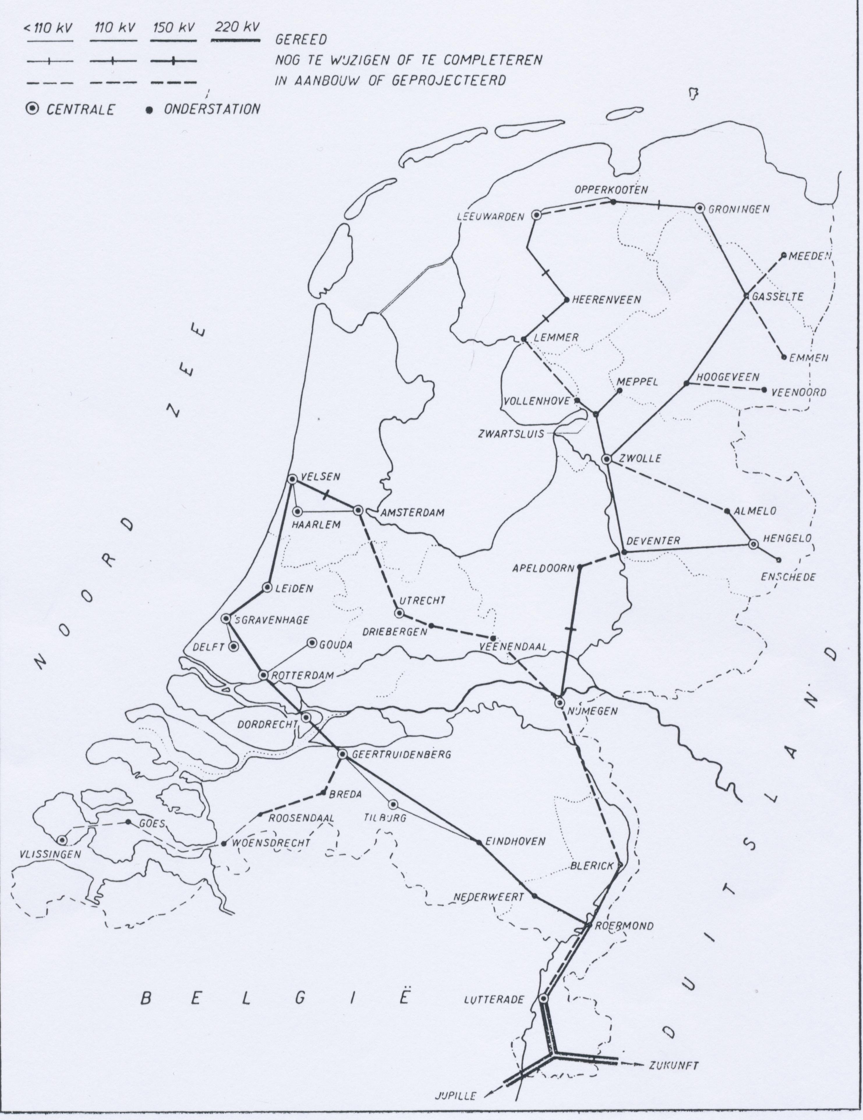 Netkaart van 1949