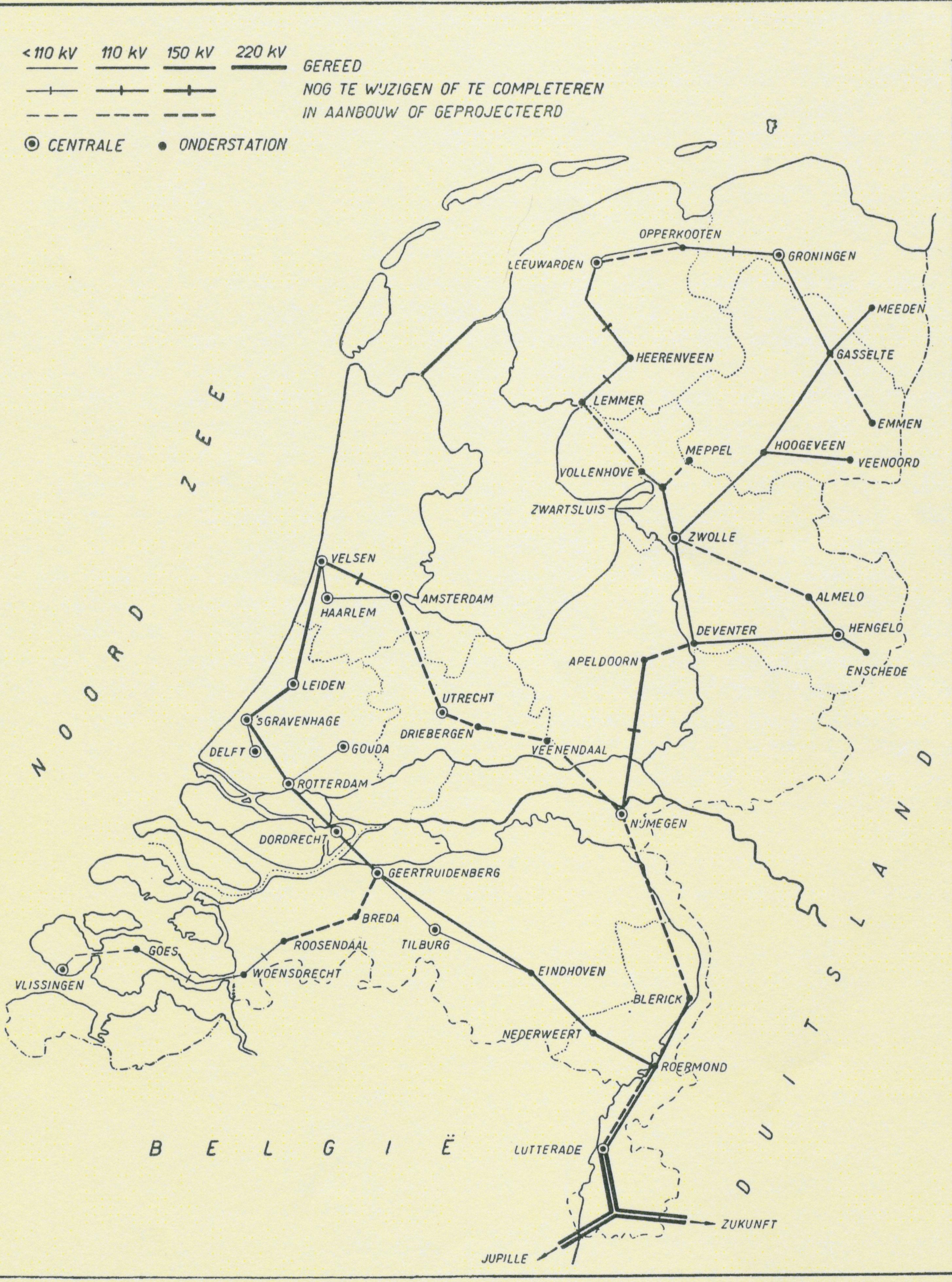 Netkaart 1950