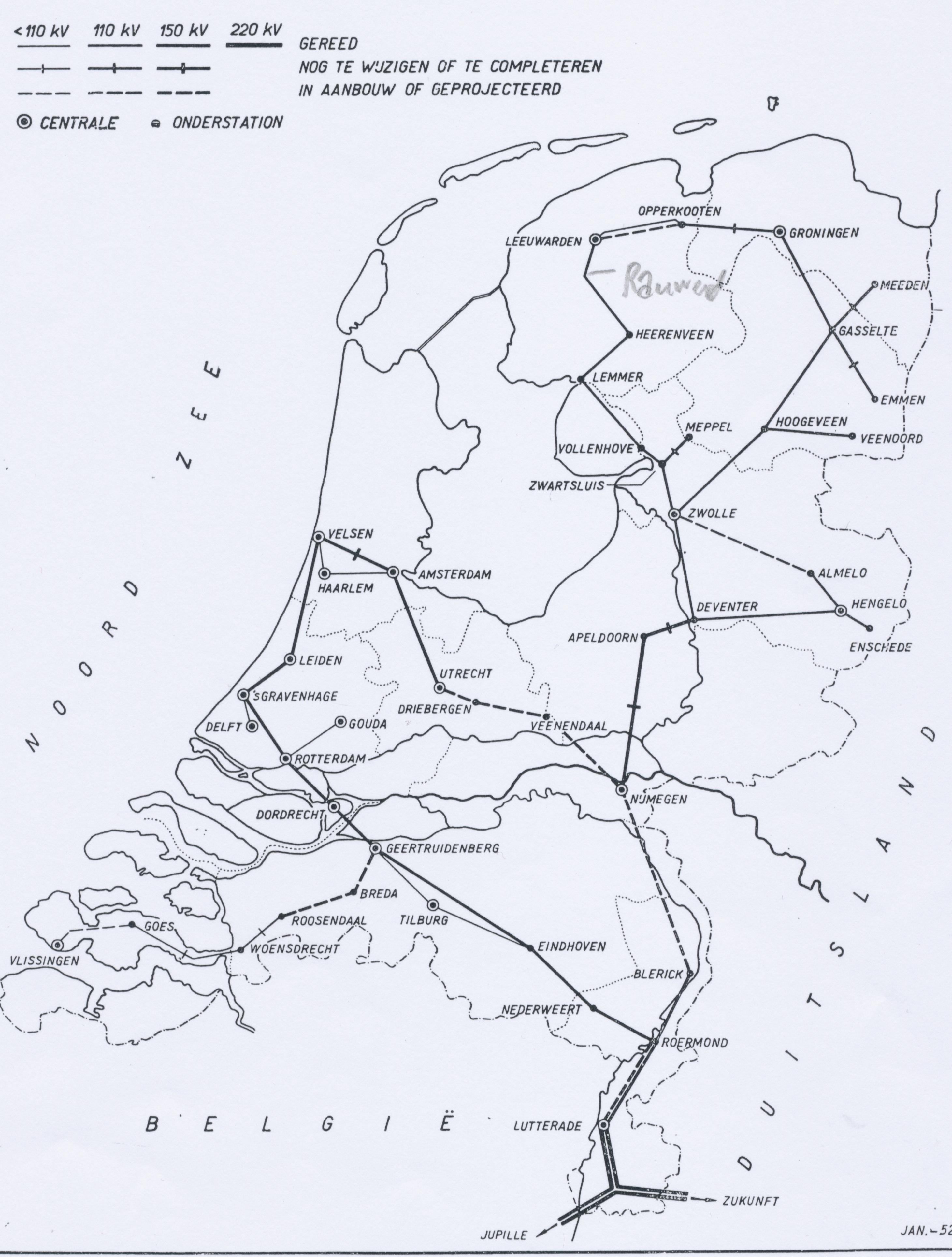 Netkaart van 1959