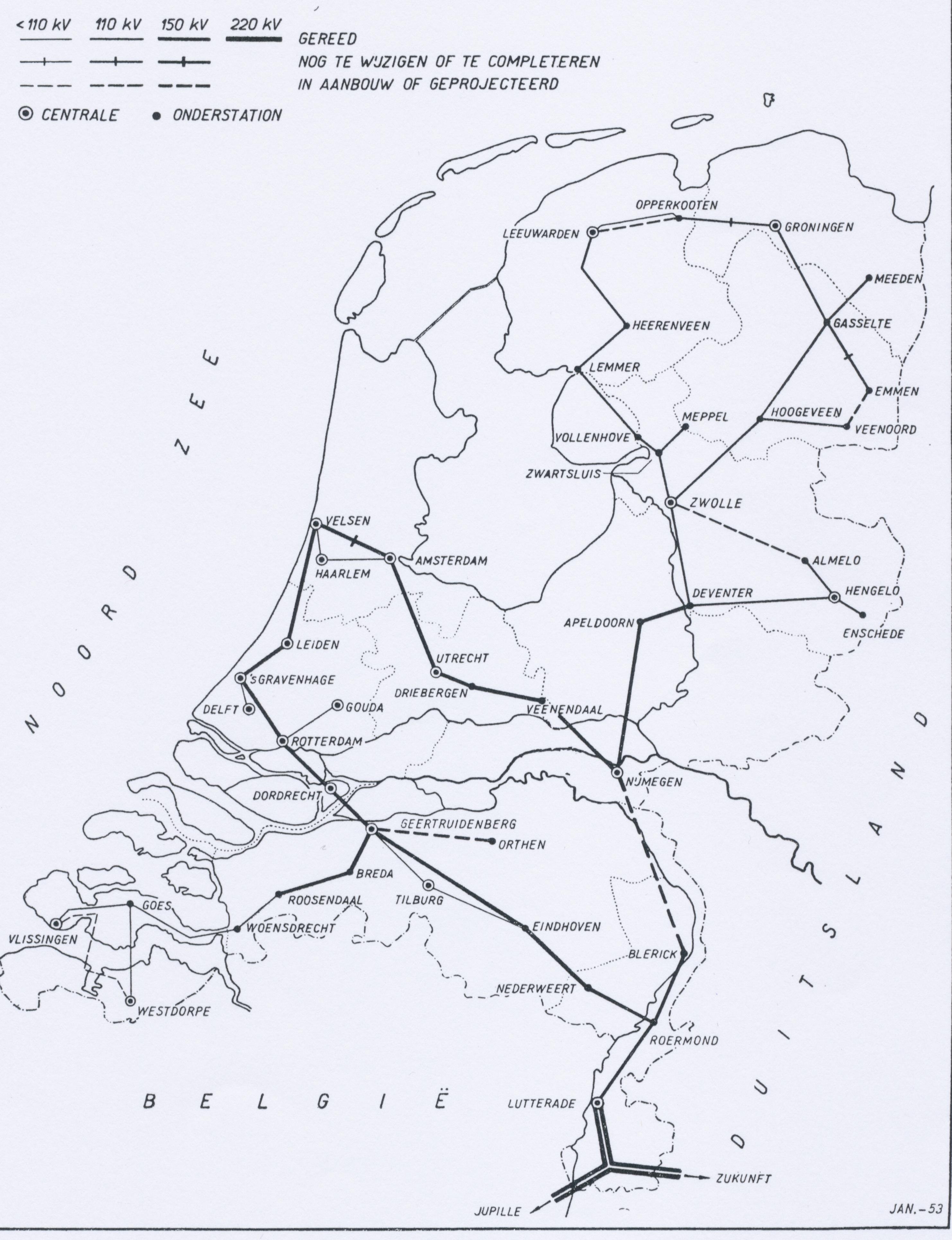 Netkaart 1952