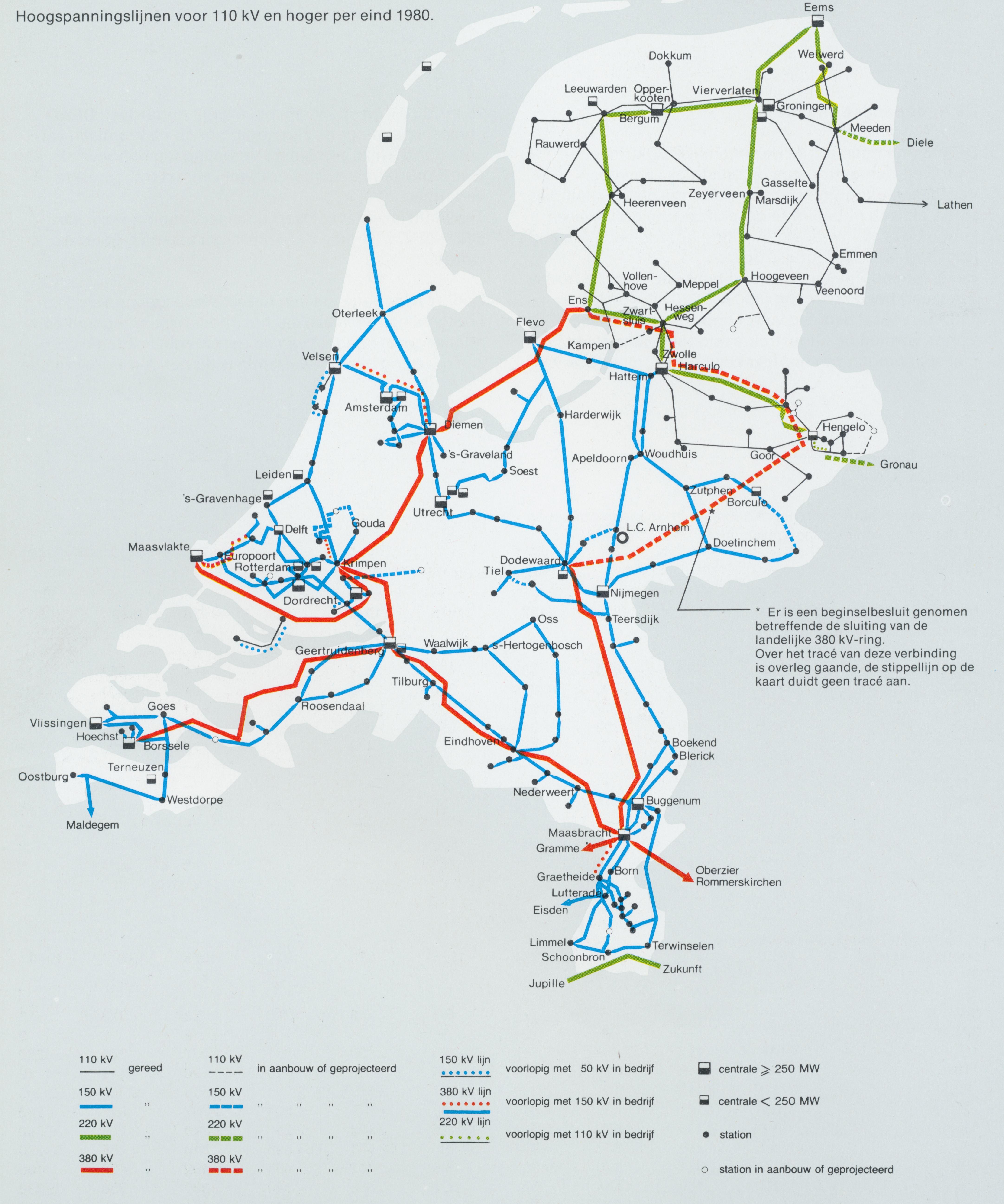 Netkaart van 1980