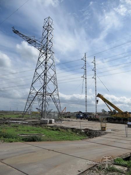 Tijdelijke mast en nieuwbouw permanente mast