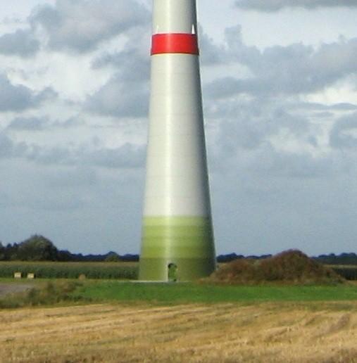 Gesloten voet van een windturbine van Enercon