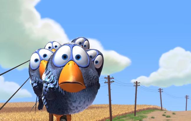 Pixars Birds zet met dezelfde lijn juist een landelijk gemoedelijke sfeer neer