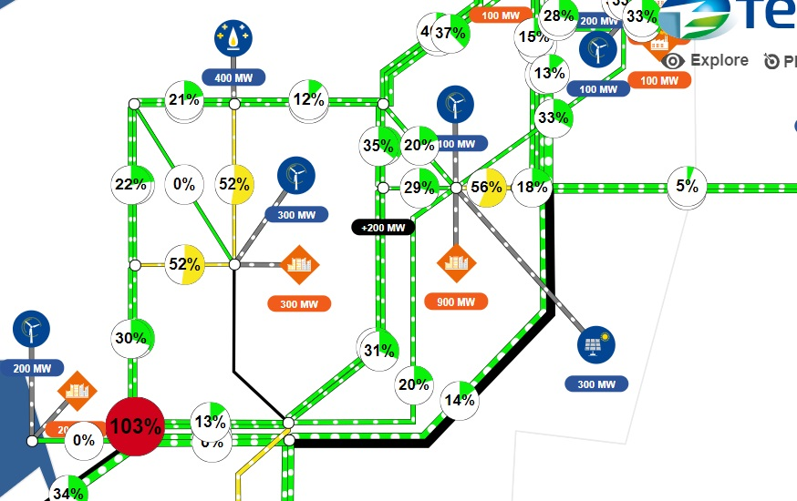 Power Flow Simulator - maak zelf kennis met loadflow in een complex net
