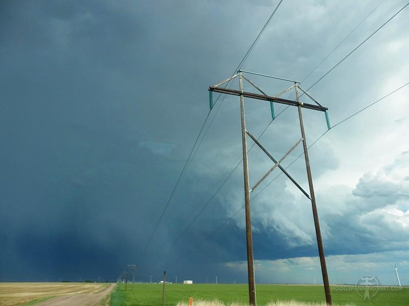 Houten mast voor 115 kV