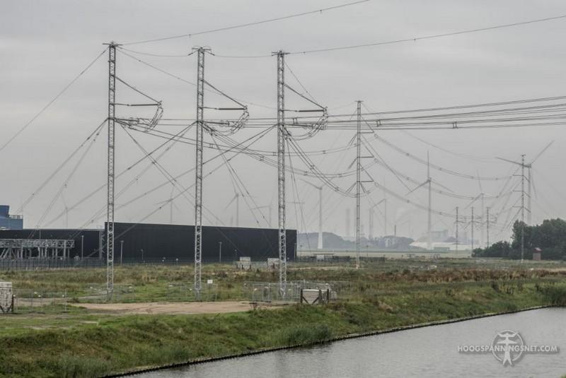 Noodlijn in de Eemshaven