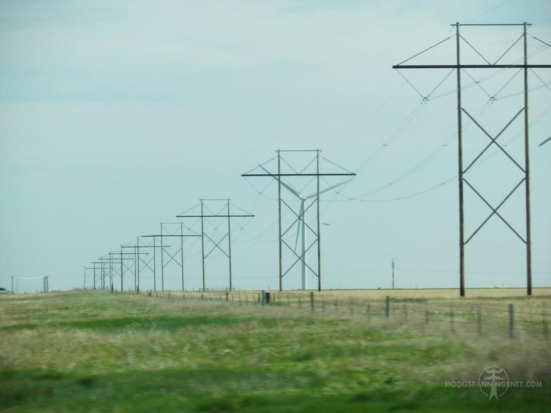 345 kV op houten palen