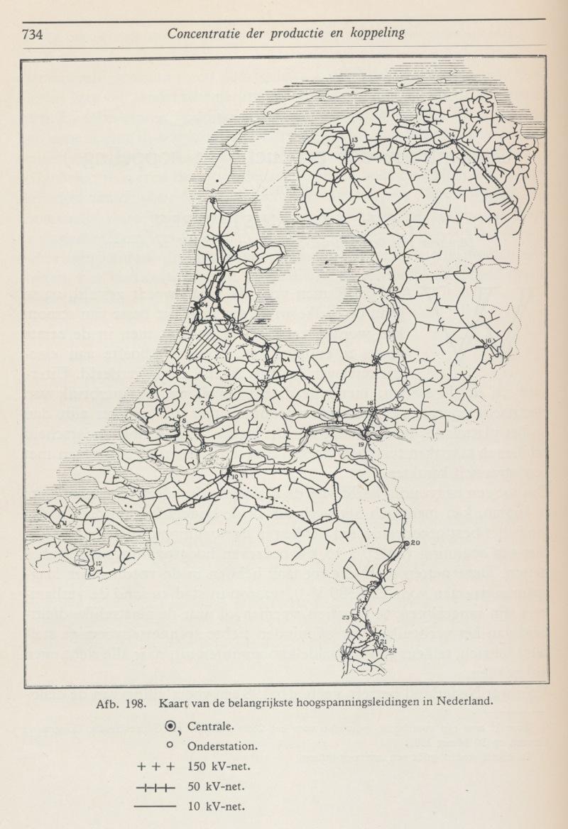 Netkaart 1938 met middenspanning