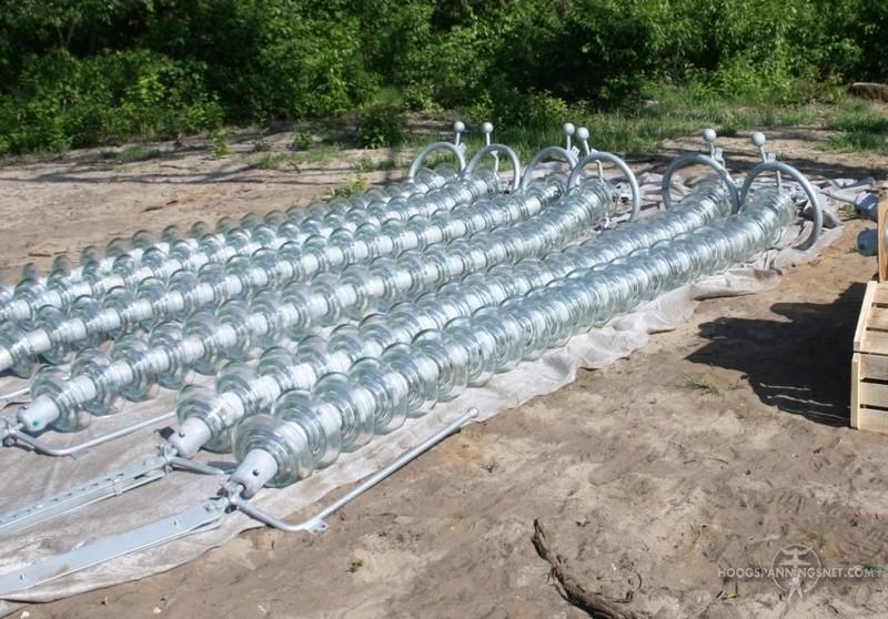 Nieuwe isolatorkettingen met lange vlamboogpinnen
