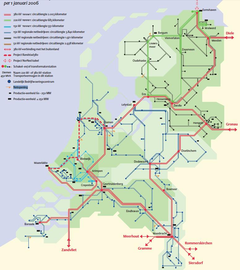 Netkaart van 2006