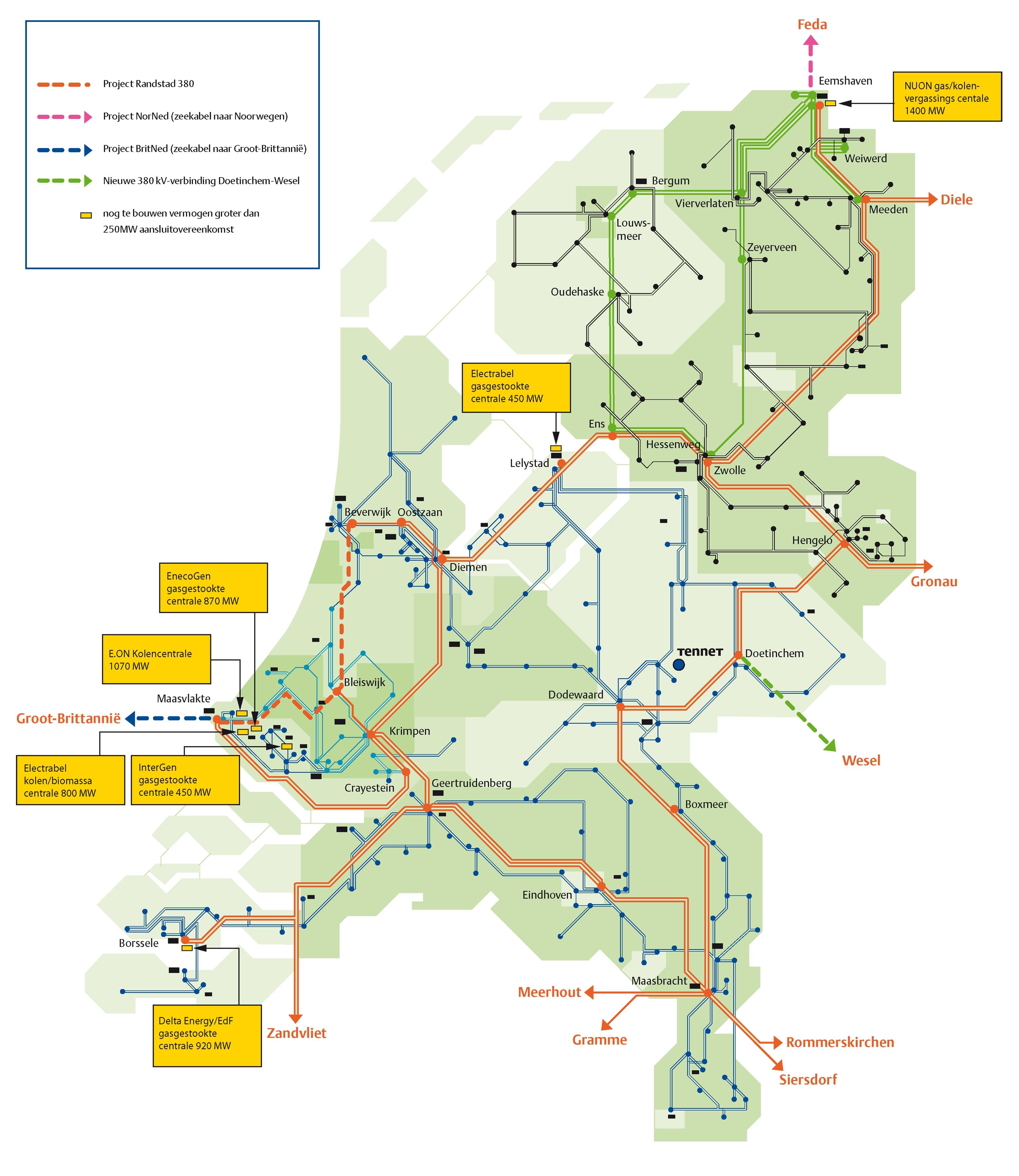 Netkaart van 2007
