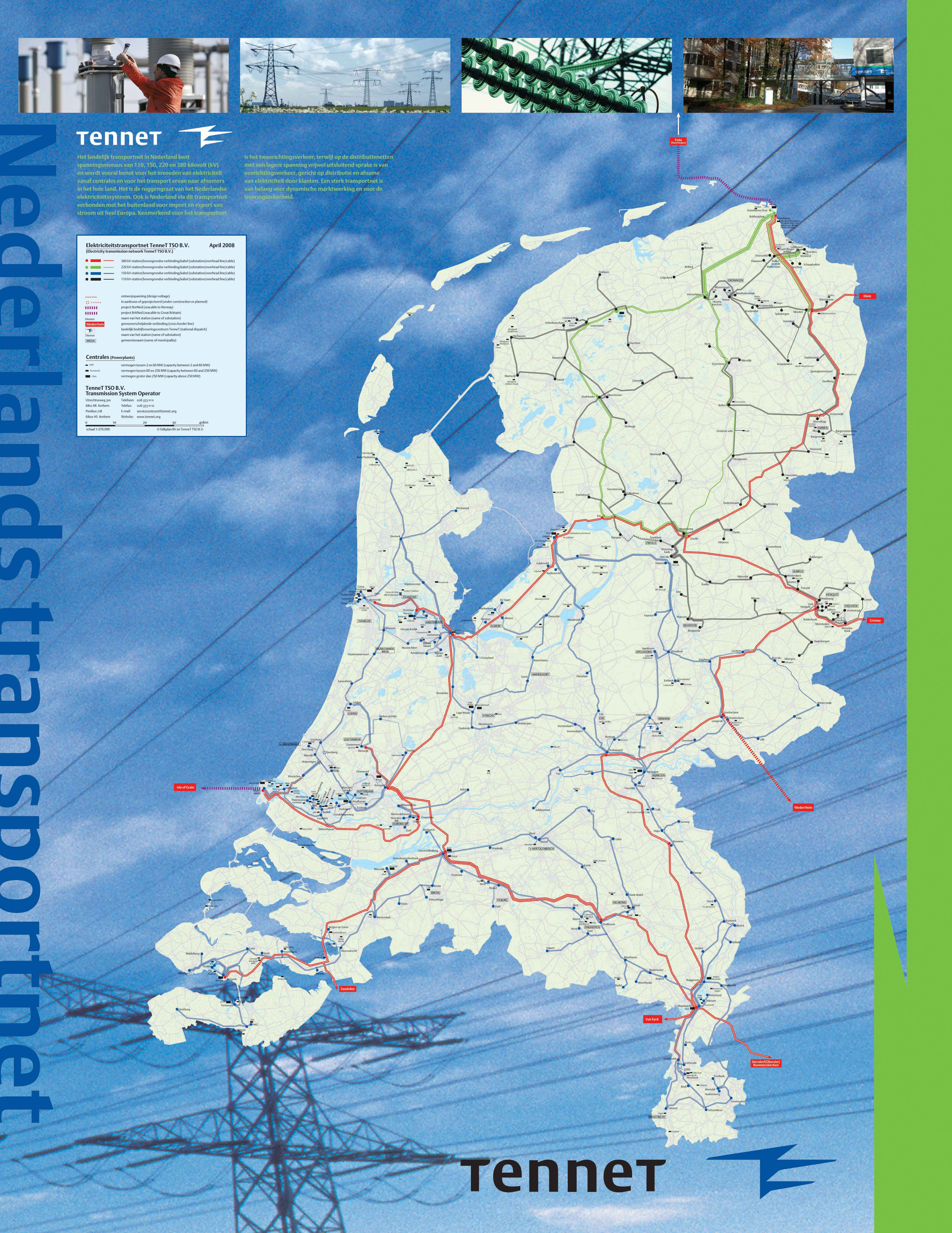 Netkaart van 2008